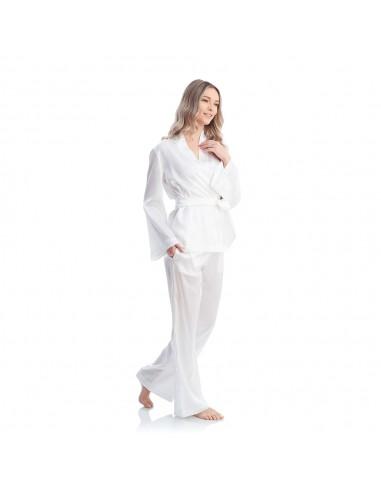 Pijamale Snowfall din mătase - Maia Home