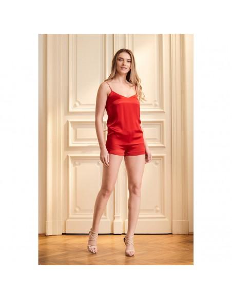 Pijamale Red Aurora din mătase - Maia Home