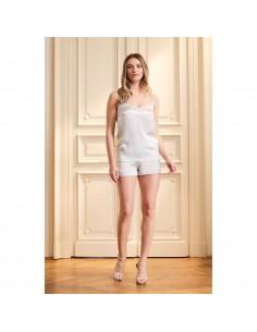 Pijamale Pale Blue Aurora din mătase - Maia Home