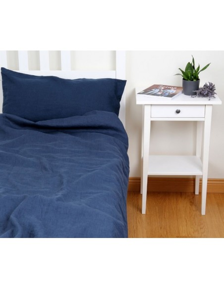 Lenjerie de pat Blue Nida din in
