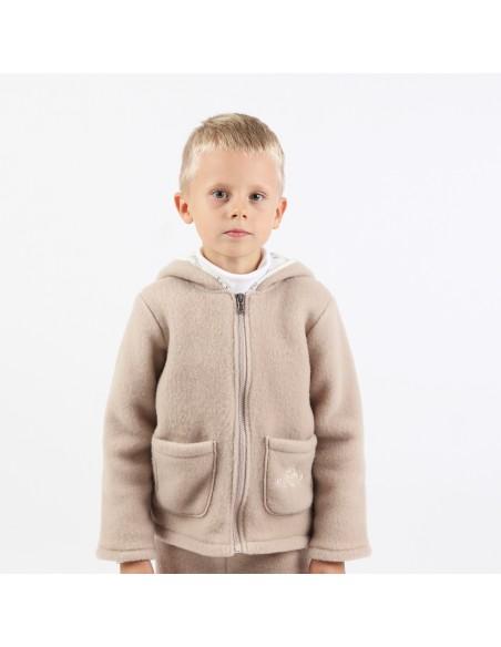 Jachetă copii Sheep Beige din lână - Maia Home