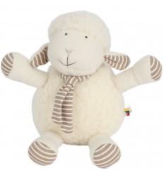 Jucărie eco Flo, oiță, din lână, 25 cm - Maia Home