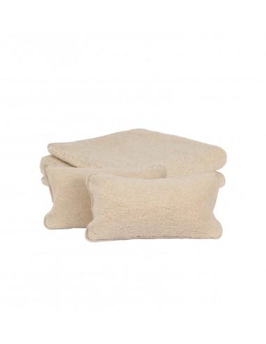 Set pătură și perne Almond din lână